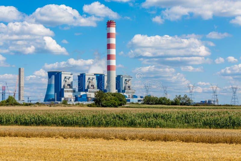 Σταθμός παραγωγής ηλεκτρικού ρεύματος Opole στοκ φωτογραφία με δικαίωμα ελεύθερης χρήσης