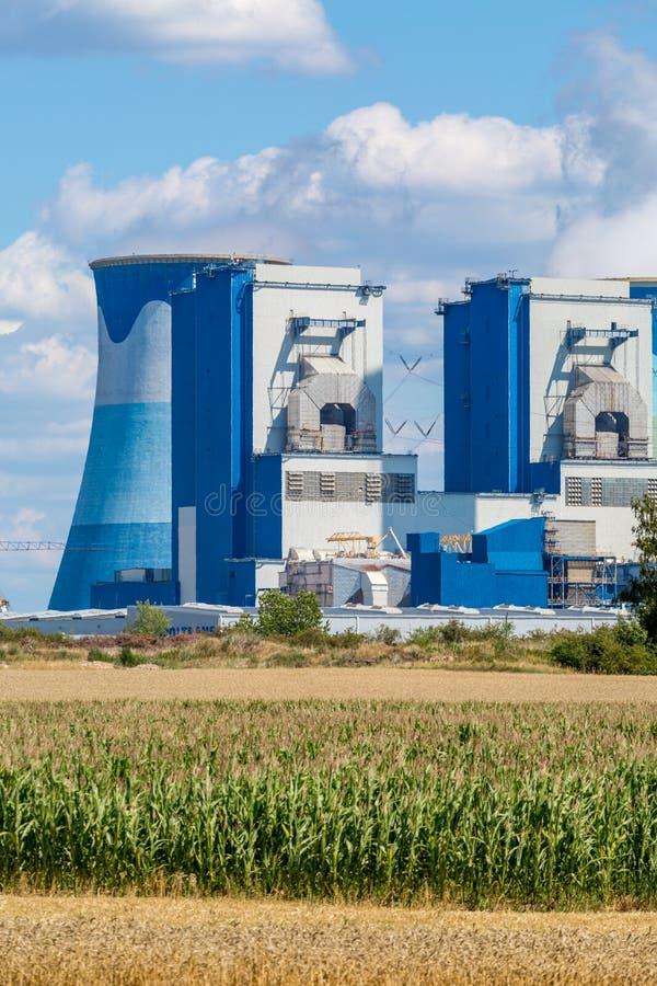 Σταθμός παραγωγής ηλεκτρικού ρεύματος Opole στοκ φωτογραφίες με δικαίωμα ελεύθερης χρήσης