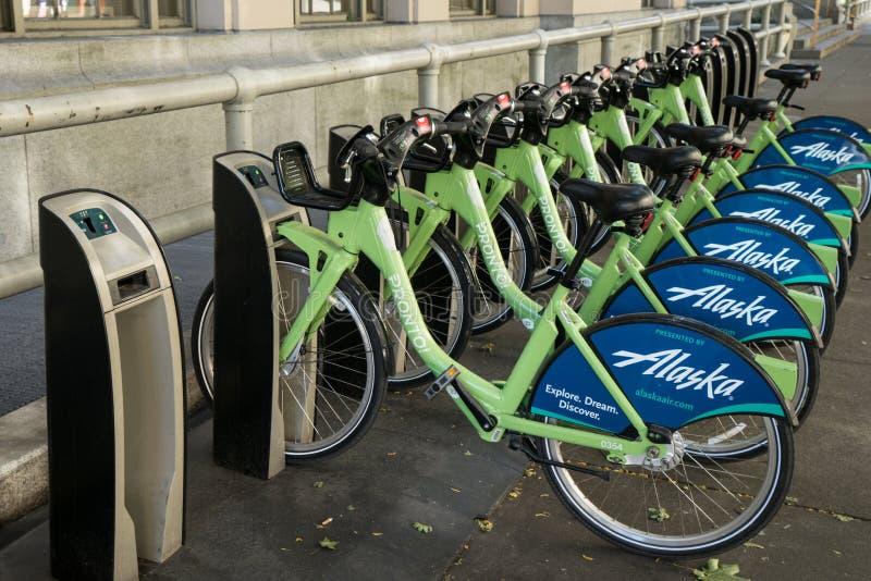 Σταθμός ποδηλάτων του Σιάτλ αμέσως στοκ εικόνα