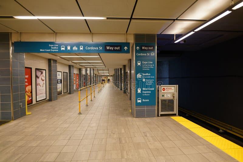 Σταθμός προκυμαιών SkyTrain στοκ φωτογραφία με δικαίωμα ελεύθερης χρήσης