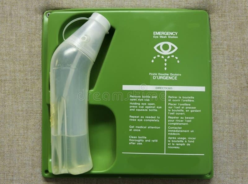Σταθμός πλυσίματος ματιών πρώτων βοηθειών στοκ φωτογραφίες με δικαίωμα ελεύθερης χρήσης