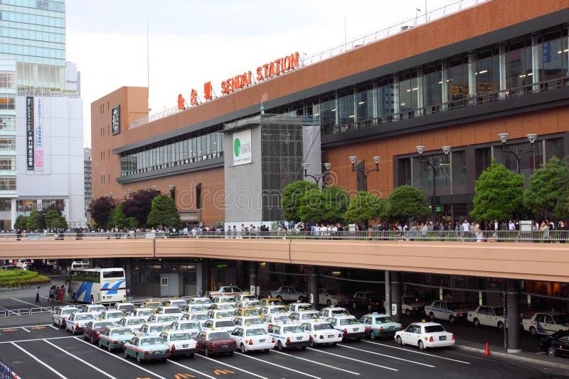 σταθμός της Ιαπωνίας Σεντά στοκ φωτογραφίες με δικαίωμα ελεύθερης χρήσης
