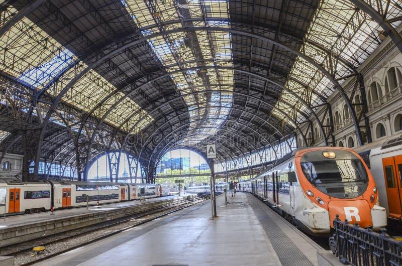 Σταθμός τρένου, Βαρκελώνη στοκ εικόνα με δικαίωμα ελεύθερης χρήσης