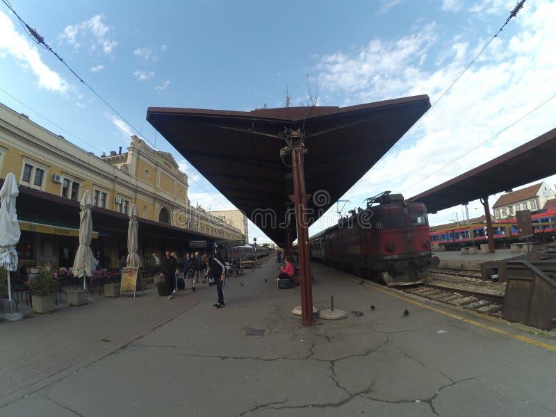 Σταθμός τρένου Βελιγραδι'ου στοκ εικόνα