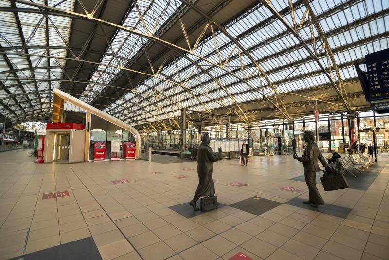Σταθμός τρένου οδών ασβέστη του Λίβερπουλ στοκ φωτογραφία με δικαίωμα ελεύθερης χρήσης