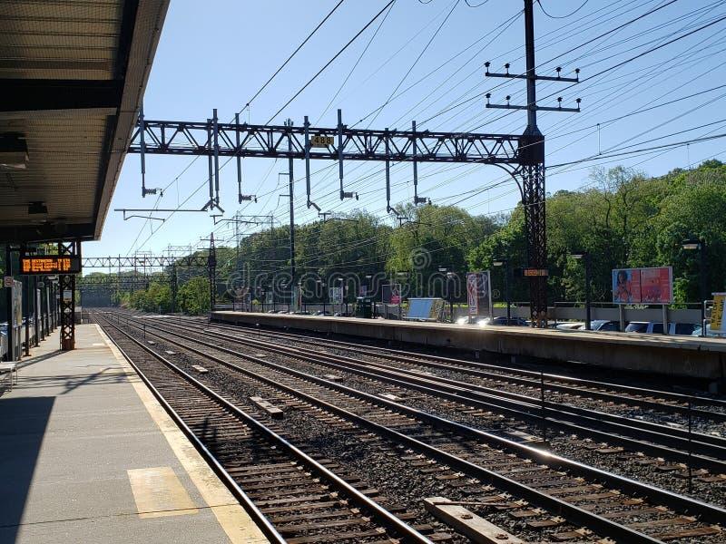 Σταθμός τρένου σε Rowayton, CT στοκ εικόνες