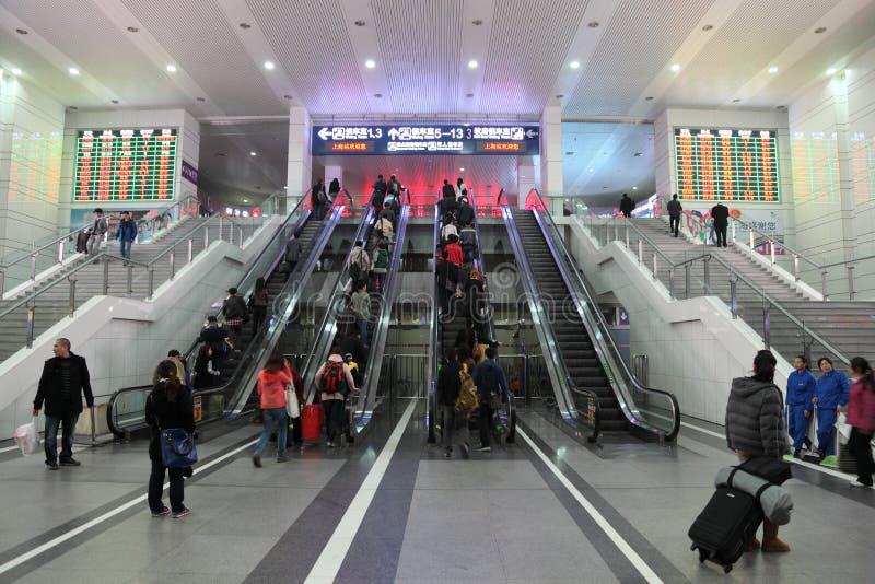 Σταθμός τρένου της Σαγγάης στοκ εικόνες με δικαίωμα ελεύθερης χρήσης