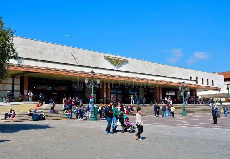 Σταθμός τρένου της Lucia Santa στη Βενετία Ιταλία στοκ εικόνα με δικαίωμα ελεύθερης χρήσης
