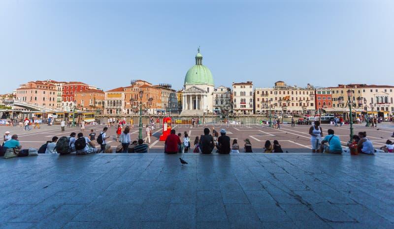 Σταθμός τρένου της Lucia Santa στη Βενετία, Ιταλία στοκ φωτογραφίες