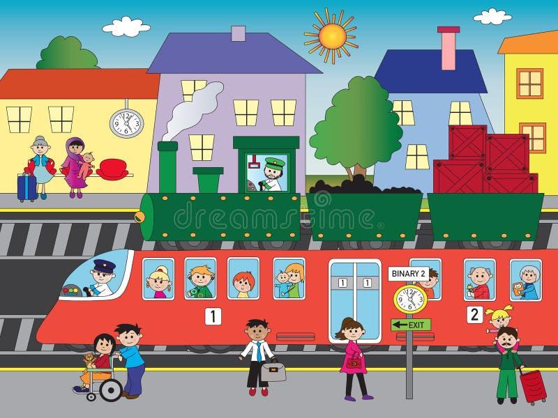 Σταθμός τρένου ελεύθερη απεικόνιση δικαιώματος