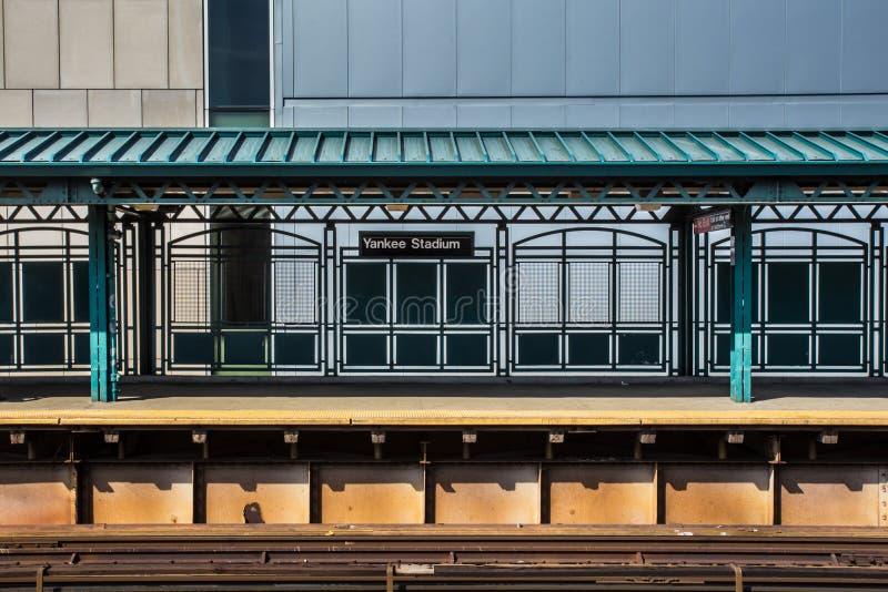 Σταθμός τρένου NYC σταδίων Αμερικανού στοκ φωτογραφία
