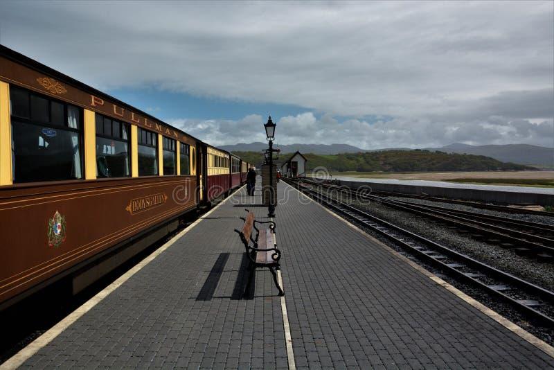 Σταθμός τρένου Portmadog στοκ φωτογραφίες