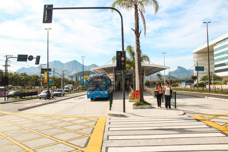 Σταθμός BRT στο Ρίο ντε Τζανέιρο στοκ εικόνα με δικαίωμα ελεύθερης χρήσης