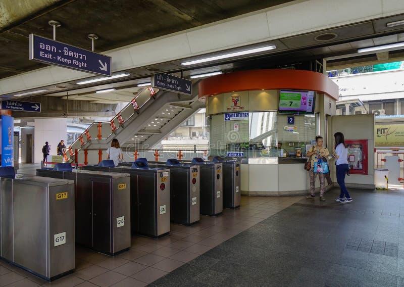 Σταθμός BTS στη Μπανγκόκ, Ταϊλάνδη στοκ εικόνα