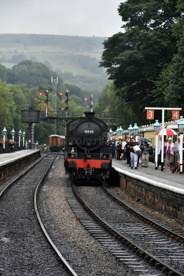 Σταθμός Grosmont και τραίνο ατμού στοκ φωτογραφίες με δικαίωμα ελεύθερης χρήσης