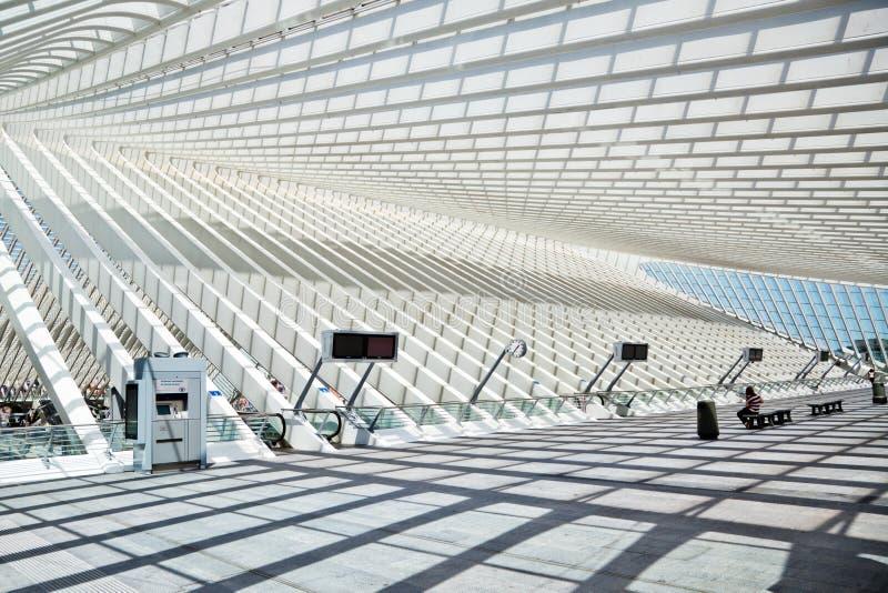 Σταθμός Guillemins στη Λιέγη στοκ εικόνα