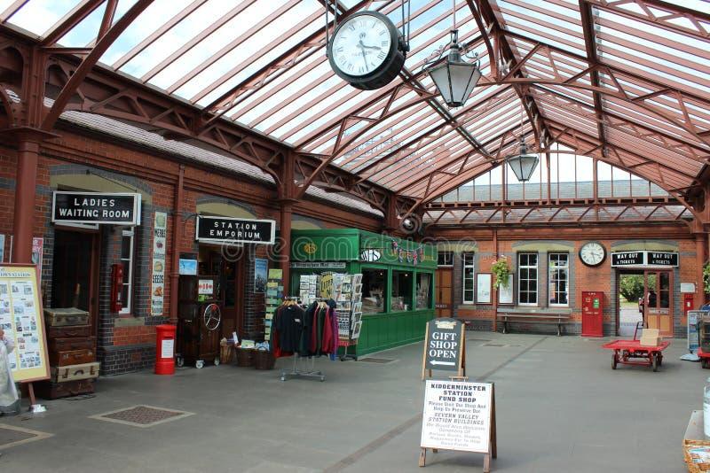 Σταθμός Kidderminster, σιδηρόδρομος κοιλάδων Severn στοκ φωτογραφία με δικαίωμα ελεύθερης χρήσης