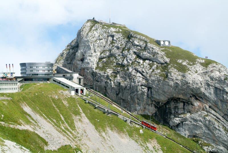 Σταθμός Kulm Pilatus κοντά στη σύνοδο κορυφής του υποστηρίγματος Pilatus στοκ φωτογραφία με δικαίωμα ελεύθερης χρήσης