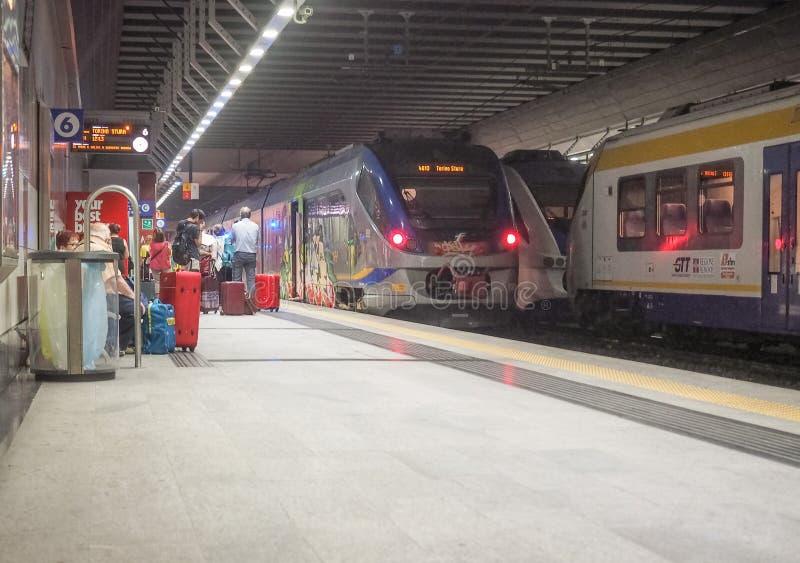 Σταθμός Susa Porta στο Τορίνο στοκ εικόνα