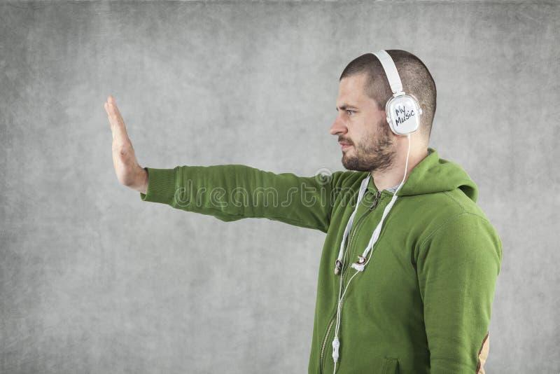 Σταματήστε τη βία στη μουσική στοκ εικόνες