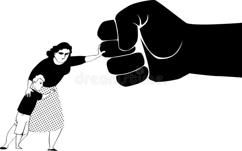 σταματήστε τη βία ελεύθερη απεικόνιση δικαιώματος