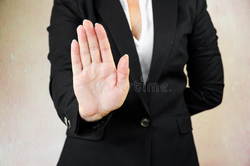 Σταματήστε τη χειρονομία στοκ φωτογραφίες με δικαίωμα ελεύθερης χρήσης