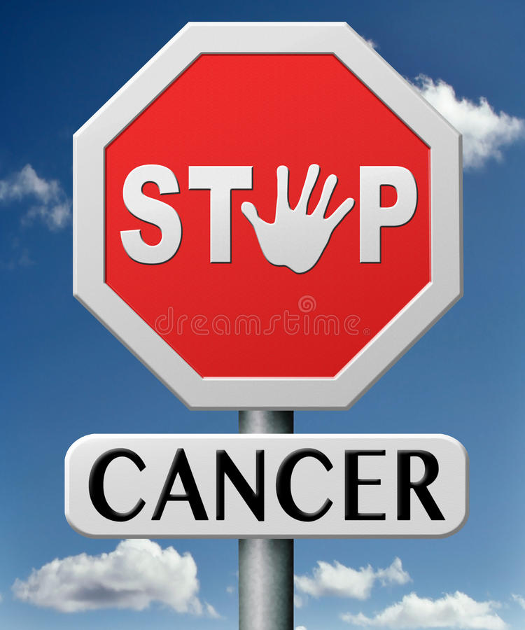 Σταματήστε τον καρκίνο από την πρόληψη ελεύθερη απεικόνιση δικαιώματος