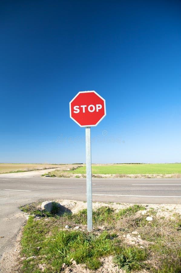 Σταματήστε το σημάδι κυκλοφορίας στοκ φωτογραφίες