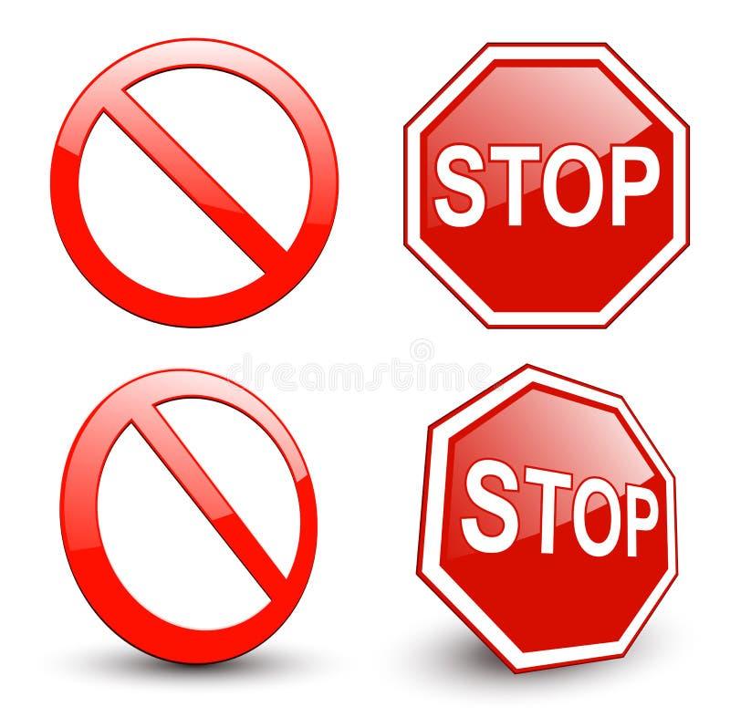 Σταματήστε το σημάδι διανυσματική απεικόνιση