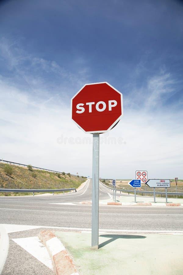 Σταματήστε το σημάδι στοκ εικόνα