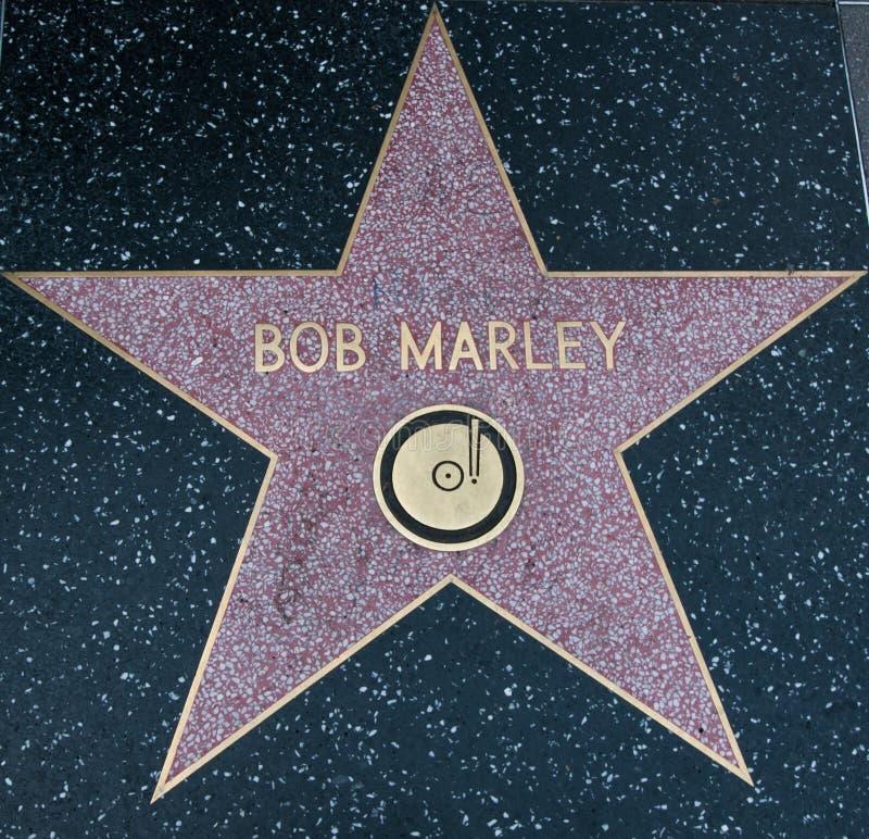 Σταρ του Χόλιγουντ του Bob Marley στοκ φωτογραφία με δικαίωμα ελεύθερης χρήσης