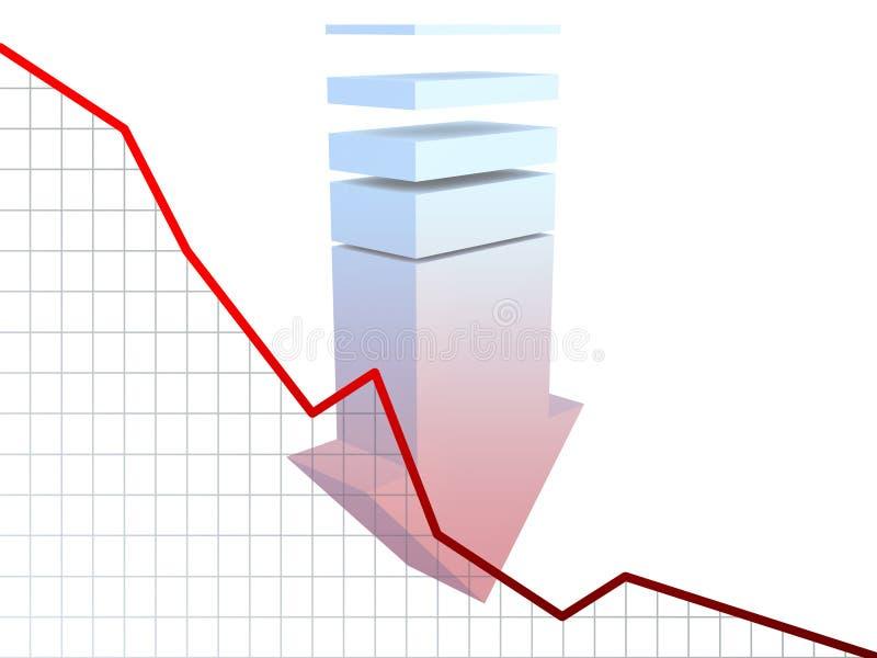 στατιστικές διαγραμμάτων διανυσματική απεικόνιση