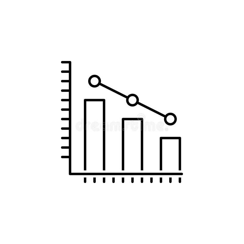 στατιστικές, εικονίδιο στοιχείων Στοιχείο της απεικόνισης επιστήμης Λεπτή απεικόνιση γραμμών για το σχέδιο ιστοχώρου και την ανάπ διανυσματική απεικόνιση