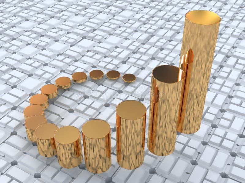 στατιστικές επιχειρήσε&ome διανυσματική απεικόνιση