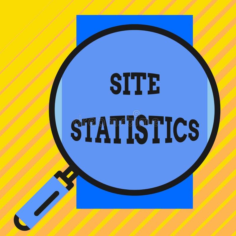 Στατιστικές περιοχών γραψίματος κειμένων γραφής Έννοια που σημαίνει τη μέτρηση της συμπεριφοράς των επισκεπτών σε ορισμένο κύκλο  διανυσματική απεικόνιση
