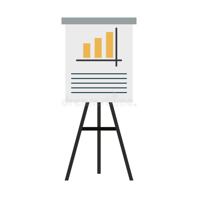Στατιστικές όσον αφορά το whiteboard διανυσματική απεικόνιση