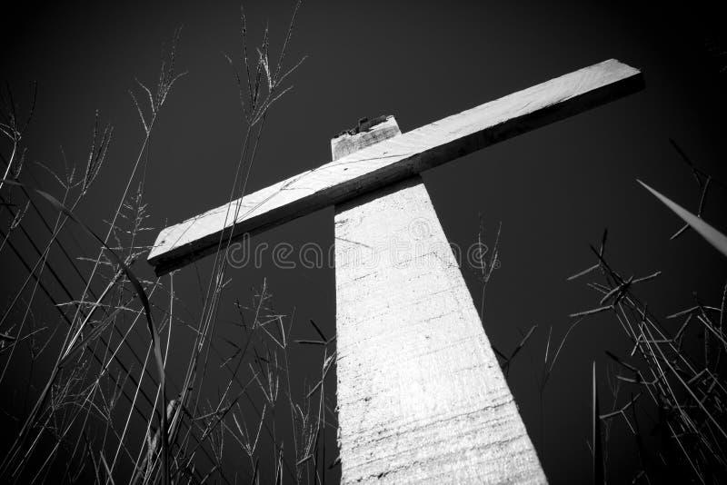 Σταυροί που φυτεύονται στη μνήμη του λαθραίου κυνηγιού ρινοκέρων στοκ φωτογραφίες
