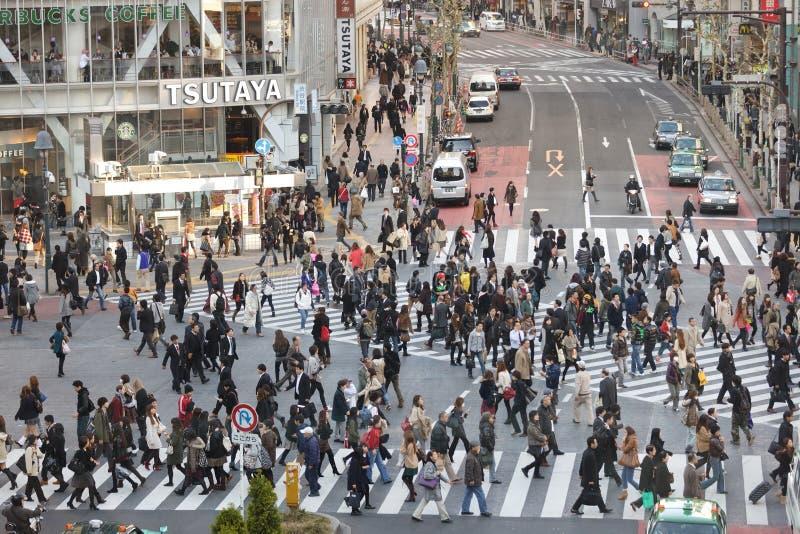 Σταυροδρόμι hachiko του Τόκιο στοκ εικόνες με δικαίωμα ελεύθερης χρήσης