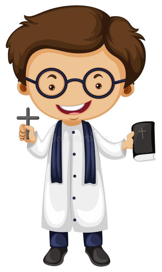 Σταυρός και Βίβλος εκμετάλλευσης Preist απεικόνιση αποθεμάτων