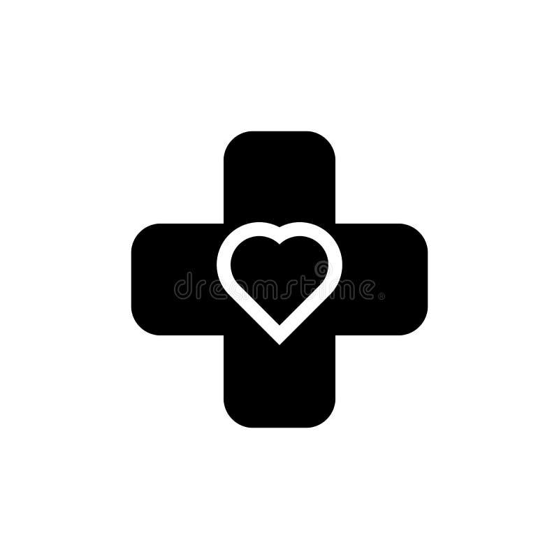 Σταυρός και εικονίδιο σημαδιών καρδιών Στοιχείο των ιατρικών εικονιδίων οργάνων Γραφικό εικονίδιο σχεδίου εξαιρετικής ποιότητας Σ ελεύθερη απεικόνιση δικαιώματος