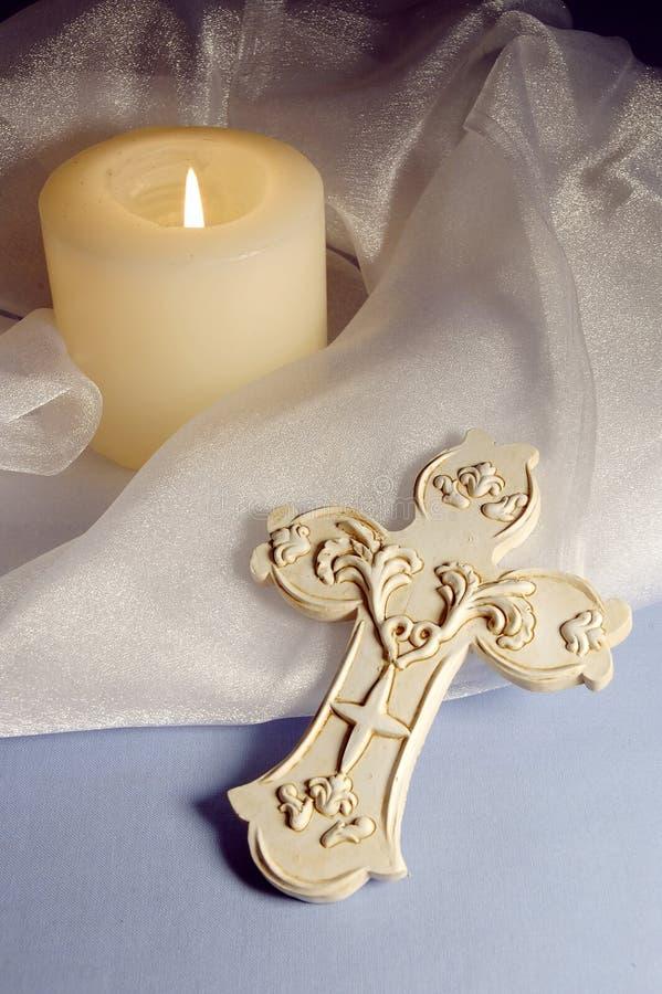 σταυρός κεριών στοκ εικόνες με δικαίωμα ελεύθερης χρήσης