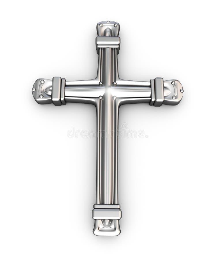 σταυρός πέρα από το ασημένι&omicro διανυσματική απεικόνιση