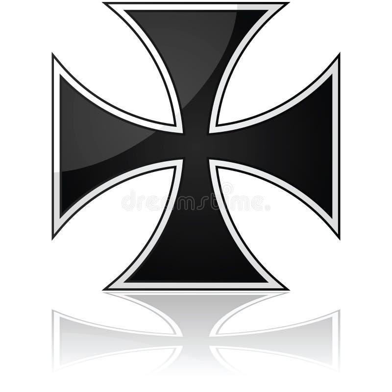 Σταυρός σιδήρου απεικόνιση αποθεμάτων