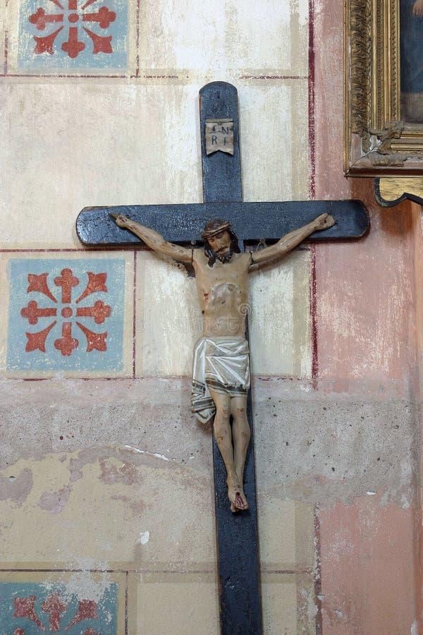 Σταυρός στην εκκλησία Αγίου Roch σε Kratecko, Κροατία στοκ εικόνες με δικαίωμα ελεύθερης χρήσης