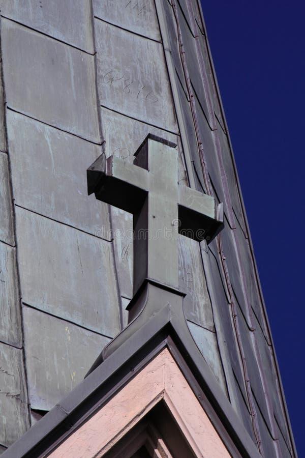Σταυρός στη στέγη στοκ φωτογραφία με δικαίωμα ελεύθερης χρήσης
