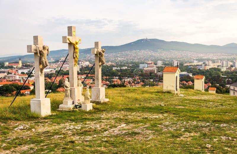 Σταυρός του Ιησούς Χριστού σε Calvary στοκ φωτογραφία με δικαίωμα ελεύθερης χρήσης