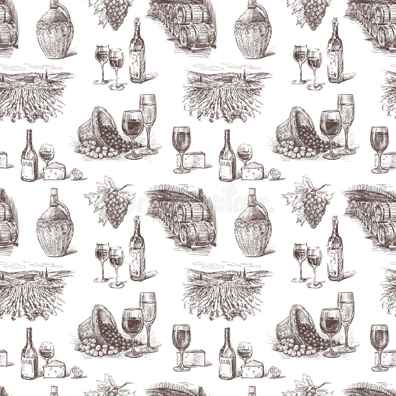 Σταφύλι κρασιού απεικόνιση αποθεμάτων