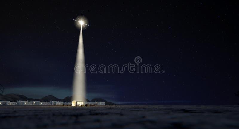 Σταύλος Chistmas στη Βηθλεέμ στοκ φωτογραφίες