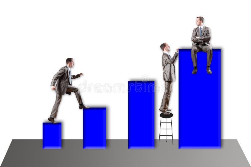 Σταδιοδρομία, αξία, διάγραμμα, χρηματιστήριο στοκ εικόνες