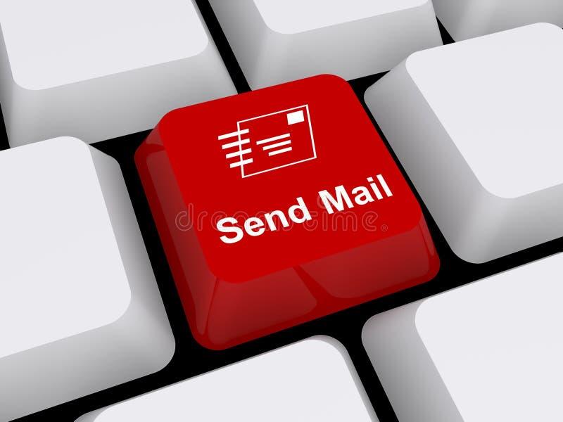 Στείλετε το κουμπί ταχυδρομείου στο πληκτρολόγιο απεικόνιση αποθεμάτων